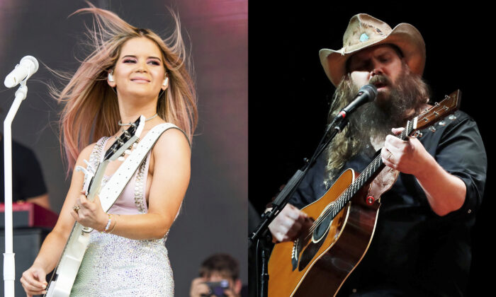L: Maren Morris performs at the Bonnaroo Music and Arts Festival in Manchester, Tenn., on June 15, 2019.