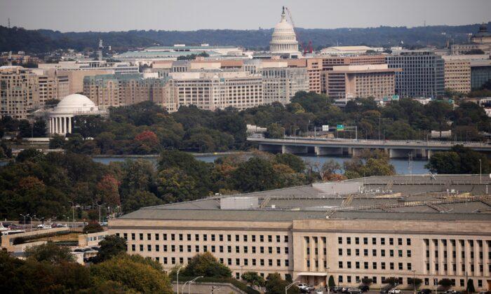 The Pentagon building is seen in Arlington, Va., on Oct. 9, 2020. (Carlos Barria/Reuters)