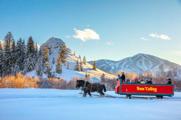 sleigh ride sun valley