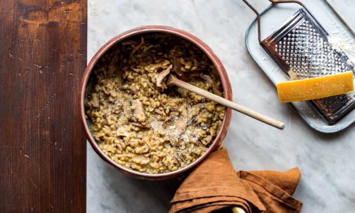 Orzotto, made with pearl barley, is especially creamy, while at the same time preserving the unique chewy texture and nutty taste of the grain. (Giulia Scarpaleggia)