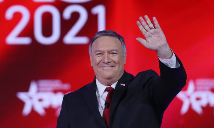 Former Secretary of State Mike Pompeo addresses the Conservative Political Action Conference held in the Hyatt Regency in Orlando, Fla., on Feb. 27, 2021. (Joe Raedle/Getty Images)