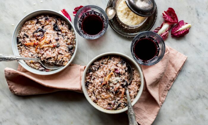 Radicchio makes a perfect winter risotto, but you can swap in any seasonal vegetable of your choice. (Giulia Scarpaleggia)