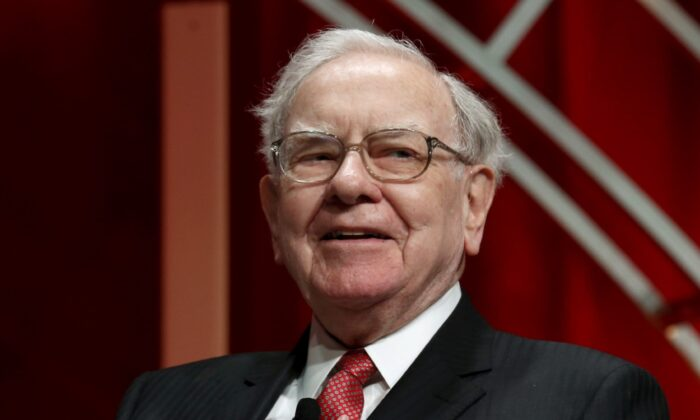 Warren Buffett, chairman and CEO of Berkshire Hathaway, takes his seat to speak at the Fortune's Most Powerful Women's Summit in Washington, on Oct. 13, 2015. (Kevin Lamarque/File Photo, Reuters)