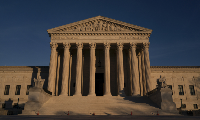 The Supreme Court stands in Washington, on Dec. 11, 2020. (Stefani Reynolds/Getty Images)