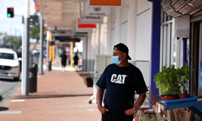Quiet streets in Auckland, New Zealand, as a seven day level 3 lockdown starts on Feb. 28, 2021. (Fiona Goodall/Getty Images)