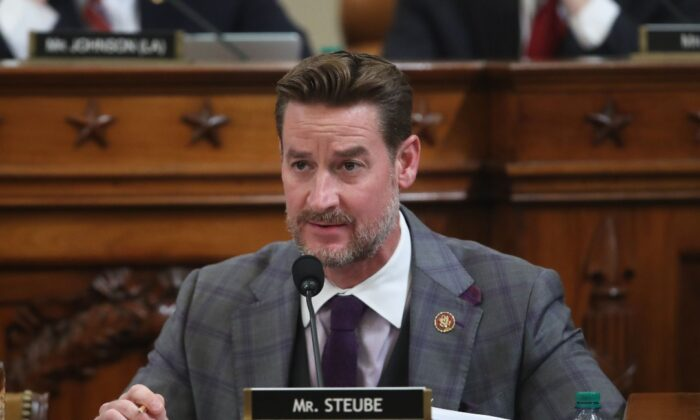 Rep. Greg Steube, Republican of Florida, participates in the House Judiciary Committee hearing as part of the impeachment inquiry into US President Donald Trump on Capitol Hill in Washington, DC on Dec. 9, 2019. (Jonathan Ernst/POOL/AFP via Getty Images)