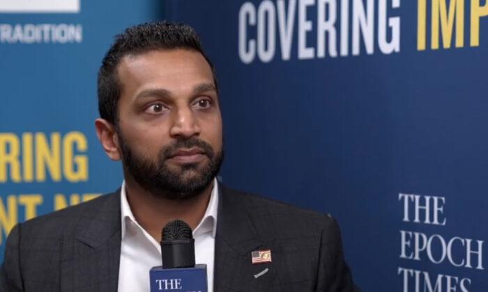 Kash Patel at CPAC 2021 in Orlando, Fla., on Feb. 28, 2021. (Screenshot/The Epoch Times)