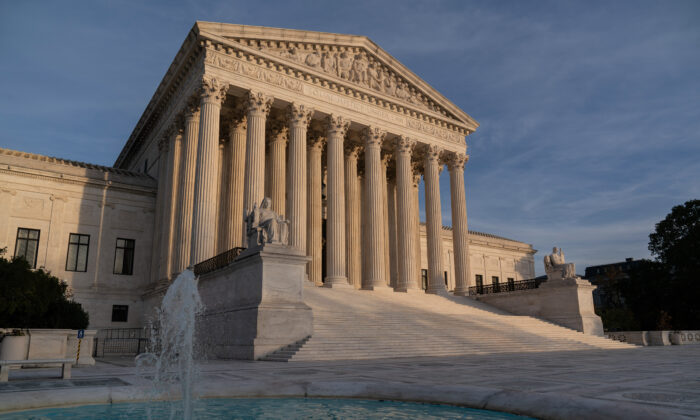 The Supreme Court in Washington on Nov. 5, 2020.  (AP Photo/J. Scott Applewhite)