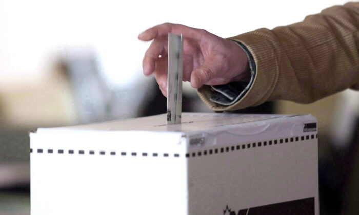 A voter casts a ballot in the 2011 federal election in Toronto, Canada, on May 2, 2011. (Chris Young/The Canadian Press)