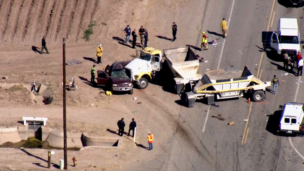 13 Dead After Major California Crash Involving Semi-Truck, SUV With 25 People: Officials