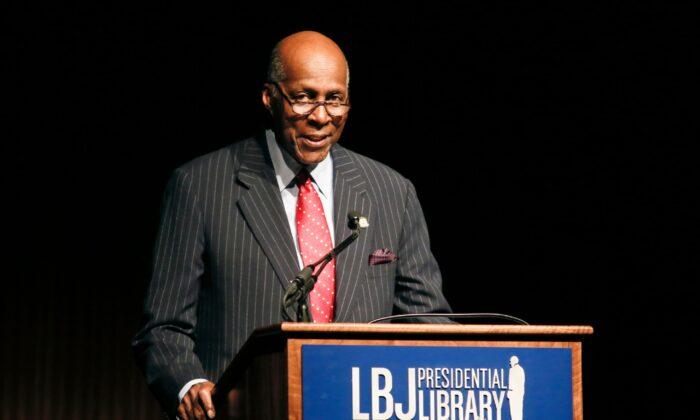 Civil rights activist Vernon Jordan speaks during the Civil Rights Summit in Austin, Texas, on April 9, 2014. (Jack Plunkett/AP Photo)
