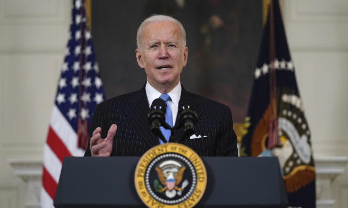 President Joe Biden at  the White House in Washington on March 2, 2021. (Evan Vucci/AP Photo)