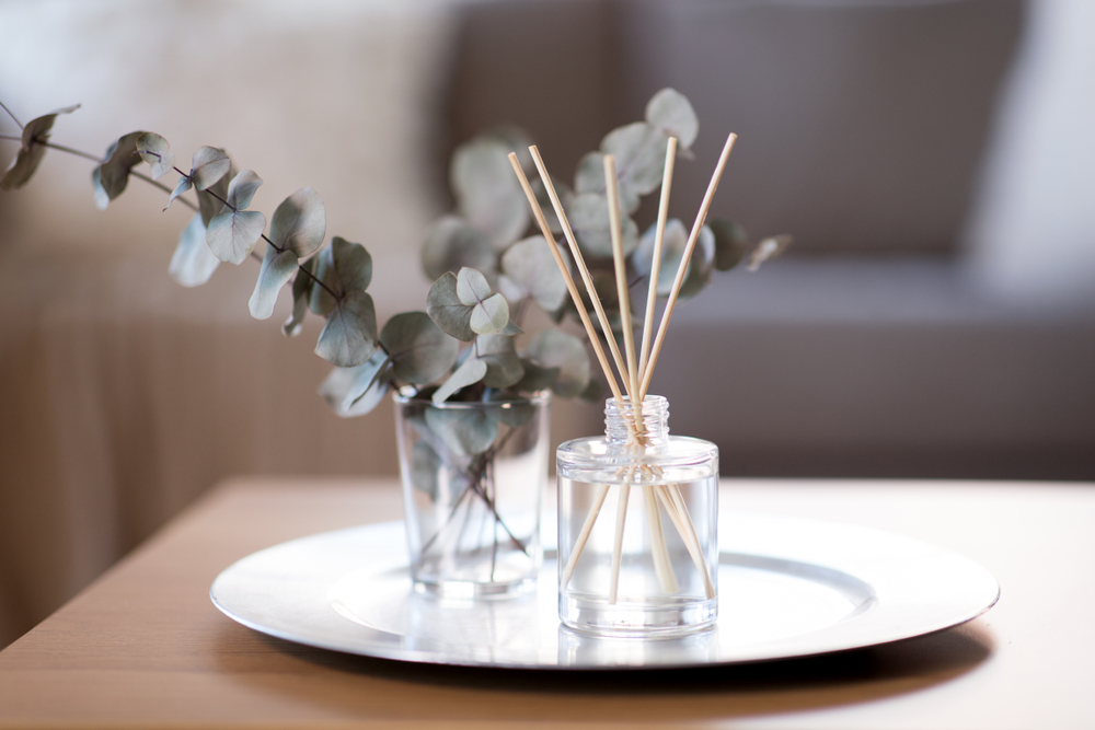 Decoration,,Hygge,And,Aromatherapy,Concept,-,Aroma,Reed,Diffuser,And