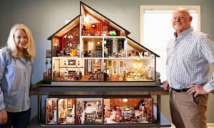 Couple Craft Perfectly Scaled-Down Mini Modern House During COVID Quarantine Time