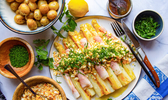 "Netherlands-based chef Devan Cameron shares a classic preparation for white asparagus, spring's ""white gold."" (Devan Cameron)"