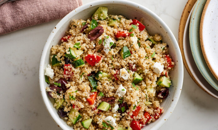 This colorful quinoa salad holds up well in the fridge all week long, is perfectly packable, and has enough protein and other good things to keep you satisfied. (Joe Lingeman/TNS)