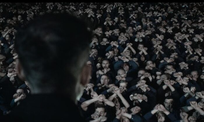 """A scene of the movie """"Nineteen Eighty-Four"""" based upon George Orwell's 1949 novel of the same name. (Screenshot)"""