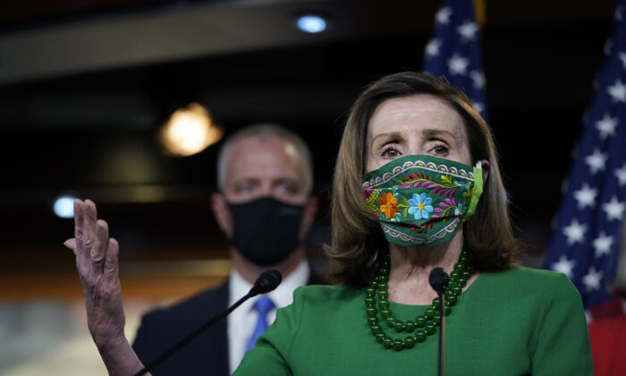 House Speaker Nancy Pelosi (D-Calif.) in Washington, D.C., on Feb. 26, 2021. (Drew Angerer/Getty Images)