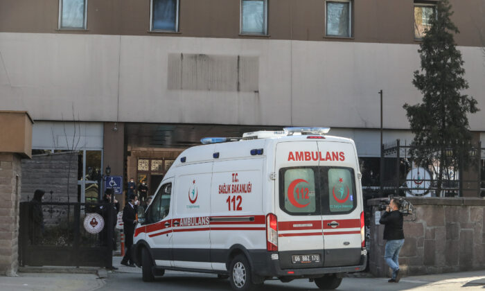 An ambulance in Ankara, Turkey, on Feb. 25, 2020. (Getty Images)