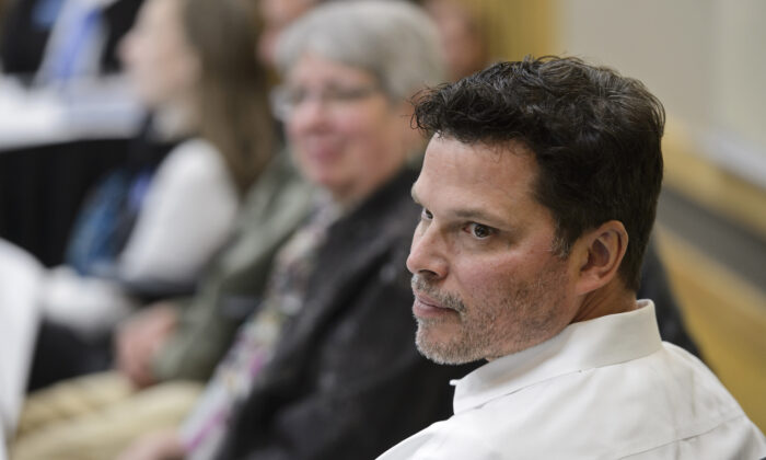 University of Alaska Board of Regents member Andy Teuber listens to a discussion during a meeting at UAA in Anchorage, Alaska, on Sept. 12, 2019. (Marc Lester/Anchorage Daily News via AP)