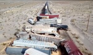 44 Train Cars Derail in California Desert