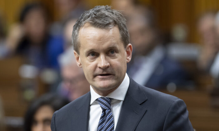 Natural Resources Minister Seamus O'Regan responds to a question during Question Period in the House of Commons in Ottawa, Canada, on Feb. 4, 2020. (Adrian Wyld/The Canadian Press)