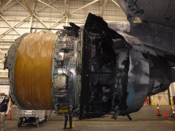 Engine of United Airlines Flight 328