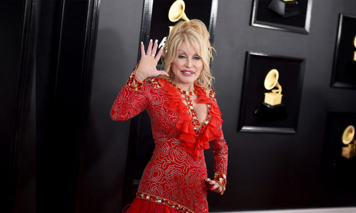 Dolly Parton arrives at the 61st annual Grammy Awards on Feb. 10, 2019, in Los Angeles. (Jordan Strauss/Invision/AP)