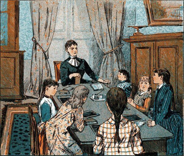 illustration of homeschooling