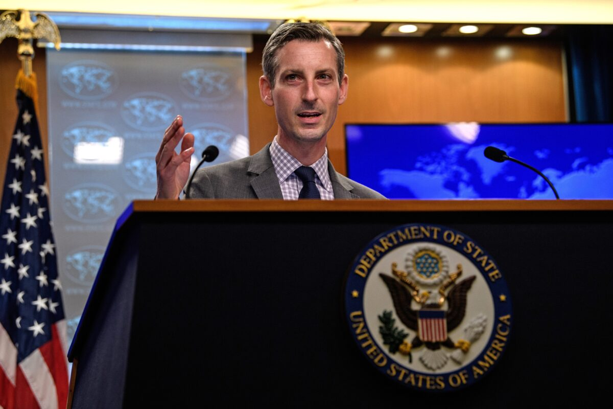 US State Department spokesman Ned Price