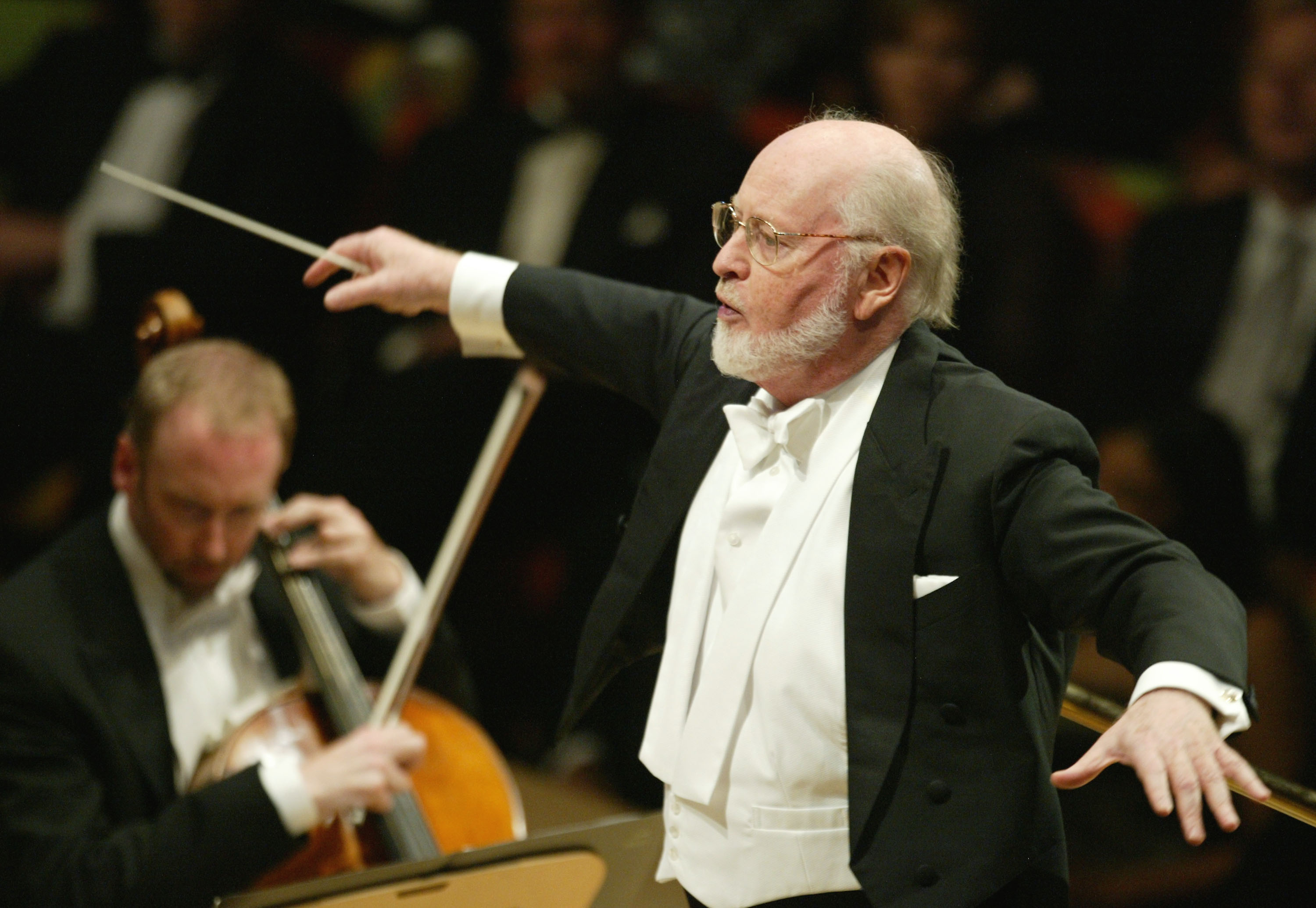 Composer John Williams at the Walt Disney Concert Hall opening gala, Oct. 25, 2003 in Los Angeles. (Carlo Allegri/Getty Images for LAPA)