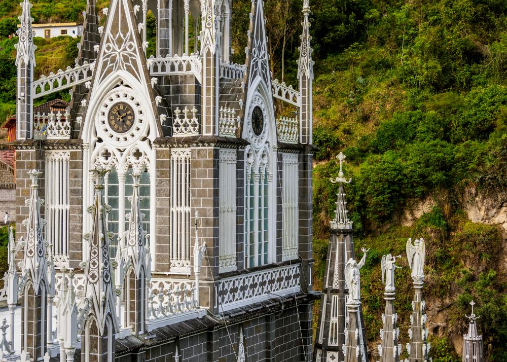 Las,Lajas,Sanctuary,,Detailed,View,,Narino,Departmant,,Colombia