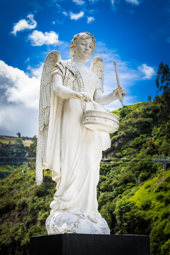 Statue,Of,An,Angel,Playing,A,Musical,Instrument,-,Drums