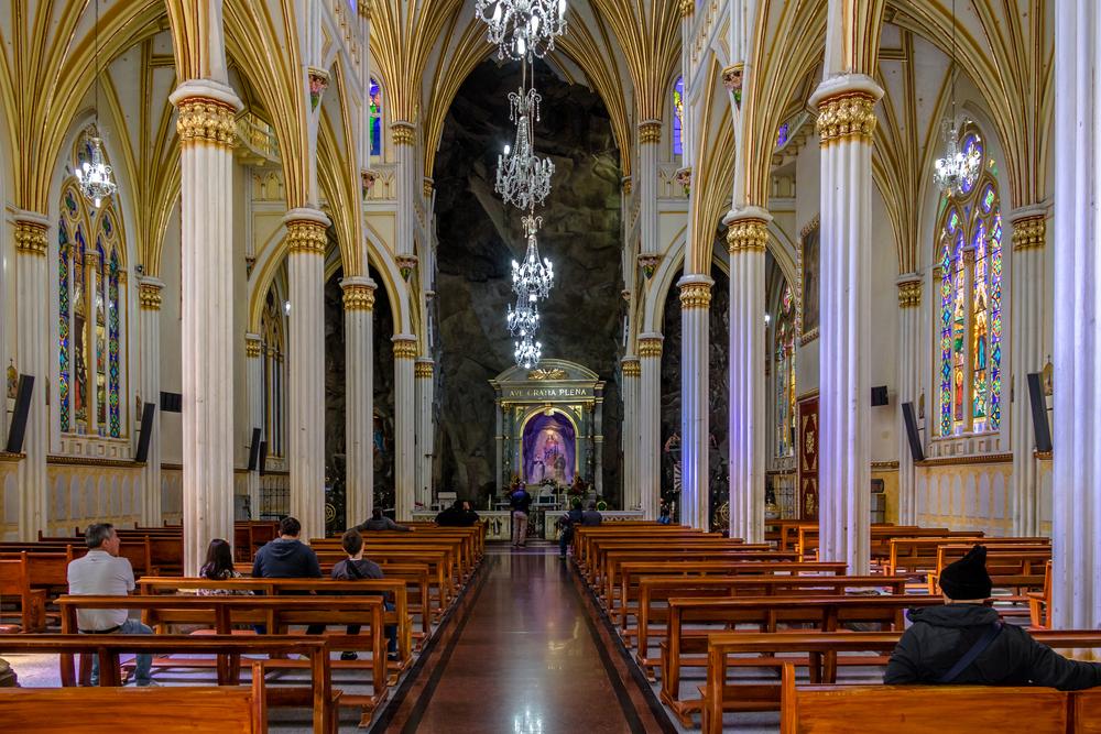 Ipiales,,Colombia,-,June,13,,2016:,Interior,Of,Las,Lajas