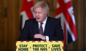 UK's Johnson Warns of Risks of Quicker Lockdown Exit