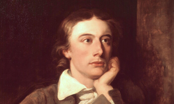 A portrait of John Keats (1822) by William Hilton, after Joseph Severn. Keats lost most of his family members to tuberculosis, the disease that would eventually take his own life on Feb. 23, 1821. (Public Domain)
