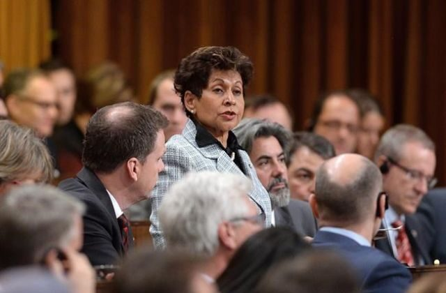 Liberal MP Yasmin Ratansi delivers a speech before the vote for the election of a new Speaker to preside over the House of Commons on Parliament Hill in Ottawa on Dec. 3, 2015. (Sean Kilpatrick/The Canadian Press)
