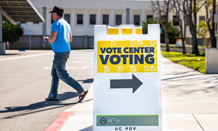 The Orange County Registrar of Voters in Santa Ana, Calif., on March 5, 2021. (John Fredricks/The Epoch Times)