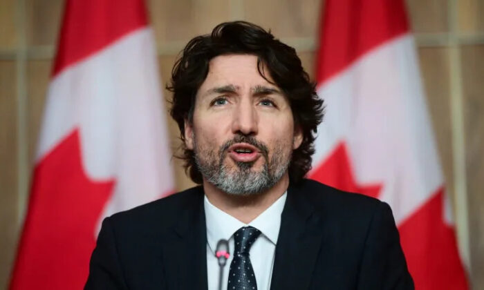 Prime Minister Justin Trudeau holds a press conference in Ottawa on March 9, 2021. (Sean Kilpatrick/The Canadian Press)