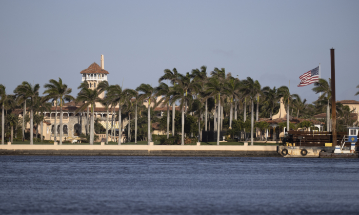 President Donald Trump's Mar-a-Lago resort where he resides after leaving the White House in Palm Beach, Florida, on Feb. 13, 2021. (Joe Raedle/Getty Images)