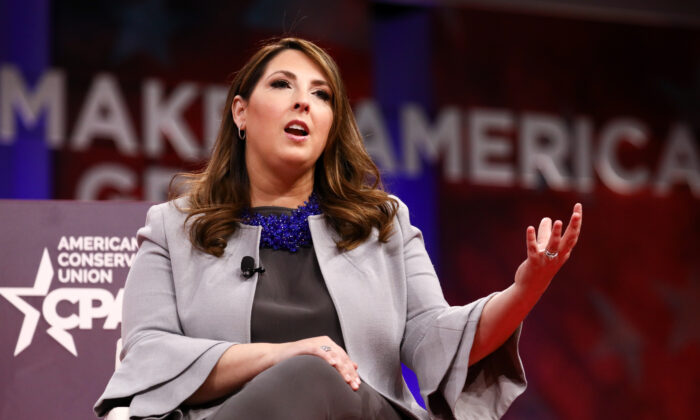 Ronna McDaniel, chair of the Republican National Committee, at the CPAC convention in National Harbor, Md., on Feb. 28, 2019. (Samira Bouaou/The Epoch Times)