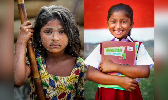 Photographer Captures Stirring Before-and-After Portraits of Former Child Laborers, Now in School