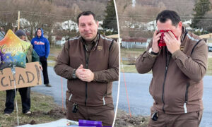 Entire Town Surprises Their Only UPS Driver to Tears With $1,000 Thank-You Gift: Video