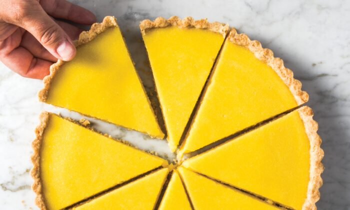 This easy lemon tart uses olive oil in both the crust and the filling. (Chantal Lambeth)