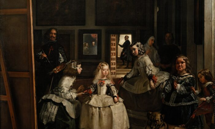 """A detail from """"Las Meninas"""" (The Maids of Honor), between 1656 and 1657, by Diego Velázquez. Oil on canvas; 10 feet ,5 inches by 9 feet ,1 inch. Prado Museum. (Public Domain)"""