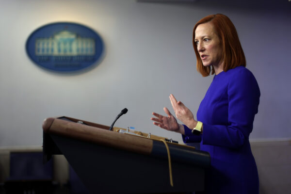 Press Secretary Jen Psaki Briefs Media In Daily News Conference