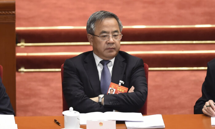 Chinese Vice Premier Hu Chunhua attends the opening session of the regime's rubber-stamp legislature's conference in Beijing on March 5, 2019. (WANG ZHAO/AFP via Getty Images)