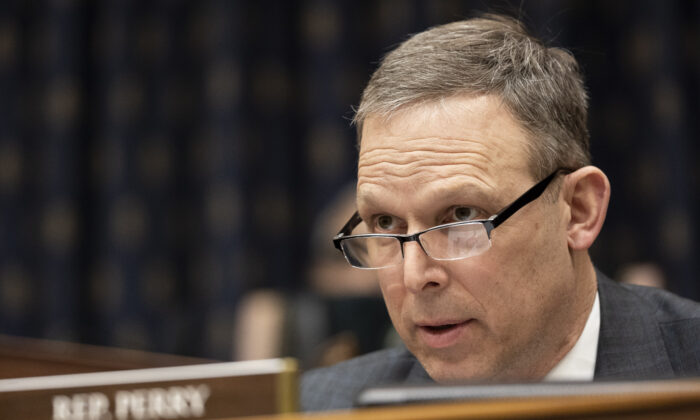 Rep. Scott Perry (R-Pa.) speaks as U.S. Secretary of State Antony Blinken testifies before the House Committee On Foreign Affairs in Washington on March 10, 2021. (Ting Shen-Pool/Getty Images)