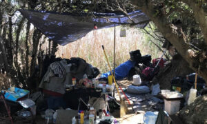 Huntington Beach Police Remove Homeless Occupying Wetlands