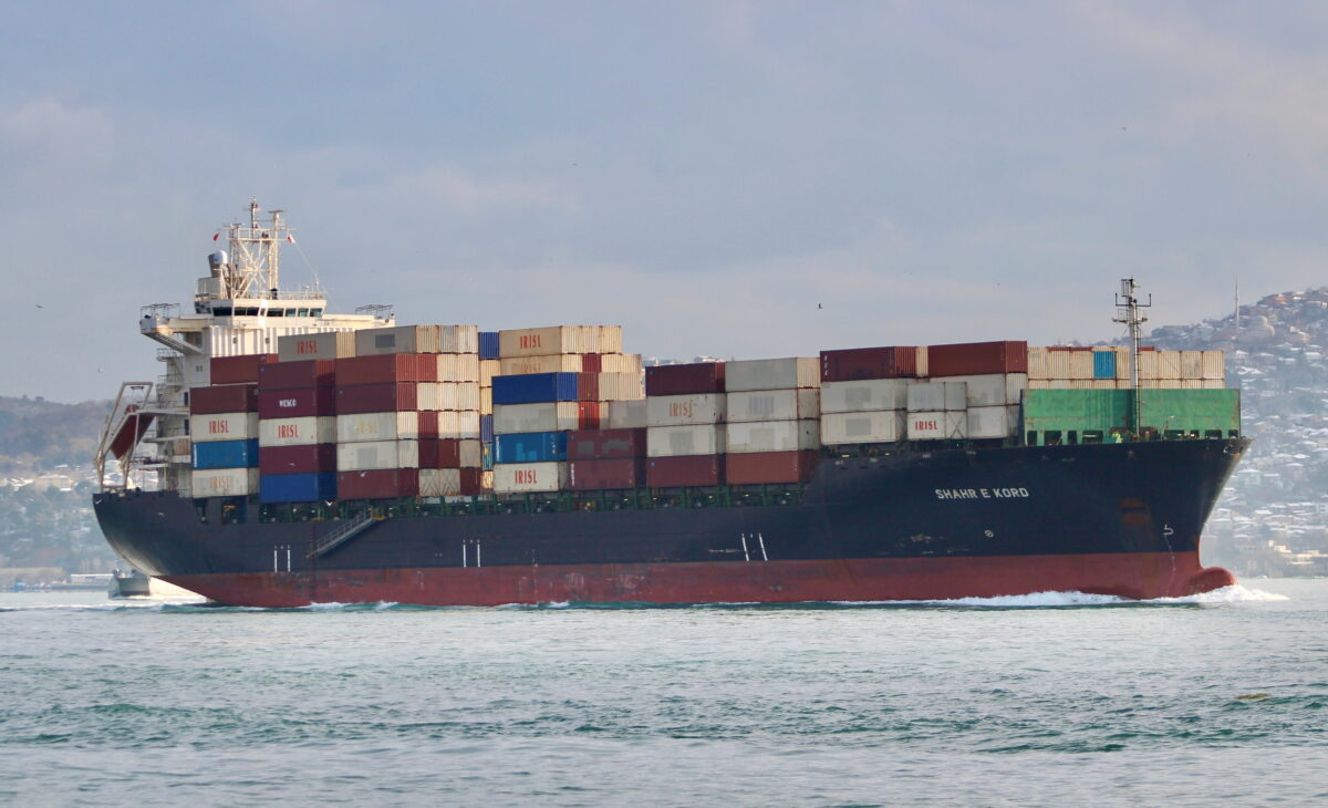 Iranian-flagged container ship Shahr e Kord